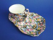 Rare Vintage Royal Winton 'Balmoral' Chintz Tennis Cup and Saucer c1945